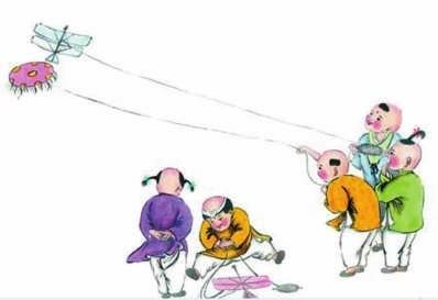 端午节 风筝 卡通图片